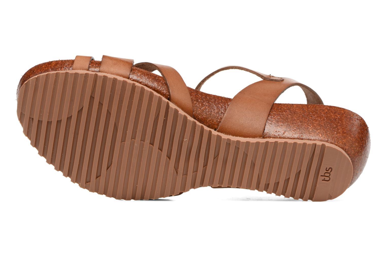 Sandales et nu-pieds TBS Sabinne Marron vue haut