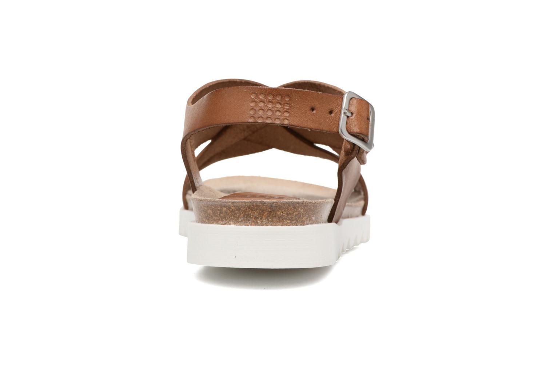 Sandales et nu-pieds TBS Tressie Marron vue droite
