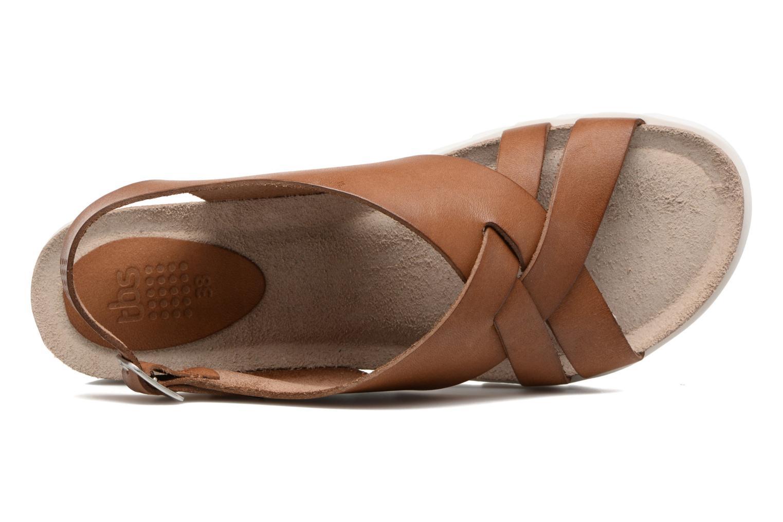 Sandales et nu-pieds TBS Tressie Marron vue gauche