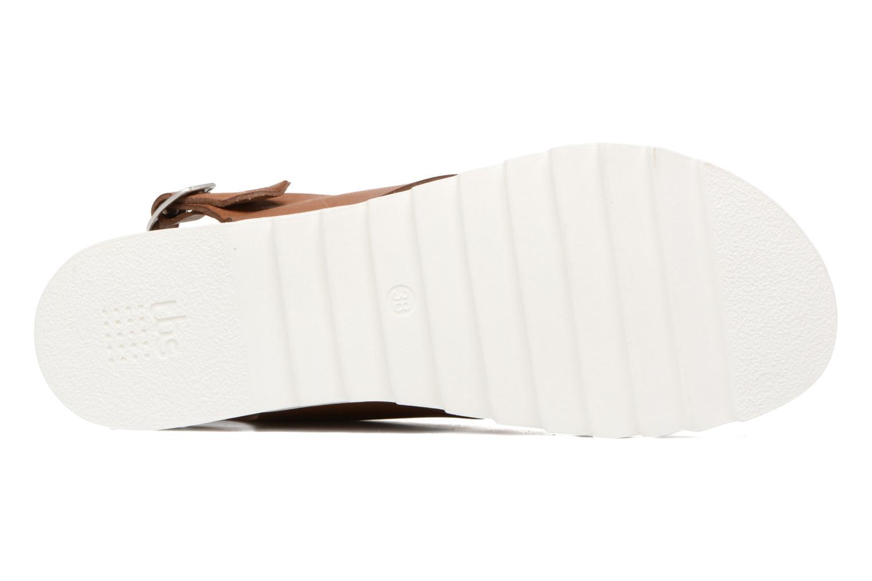 Sandales et nu-pieds TBS Tressie Marron vue haut