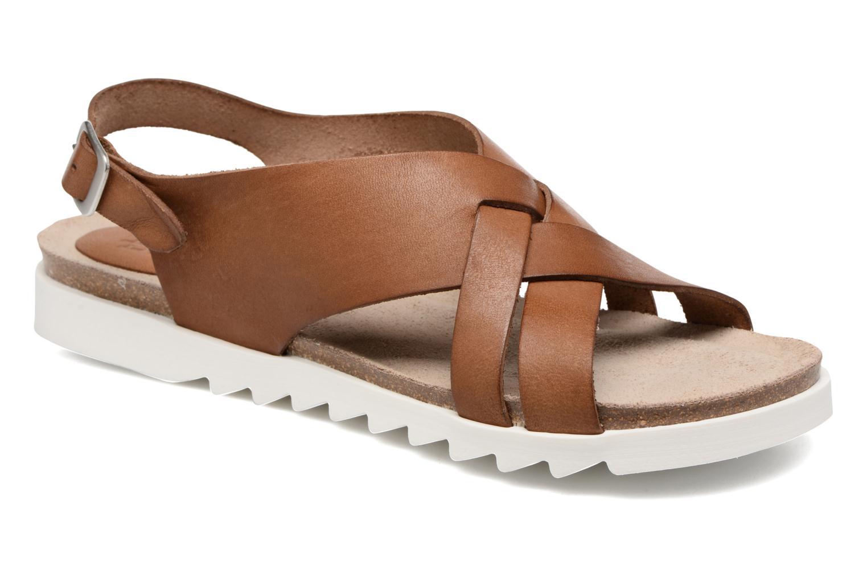 Sandales et nu-pieds TBS Tressie Marron vue détail/paire