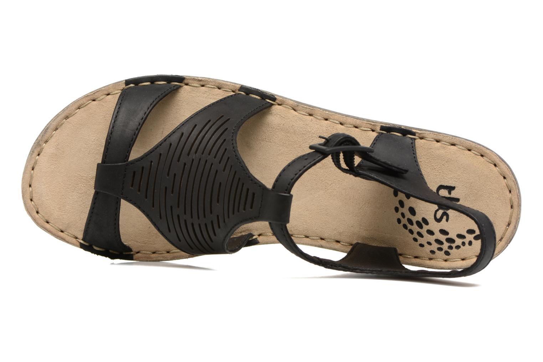 Sandales et nu-pieds TBS Zaharia Noir vue gauche