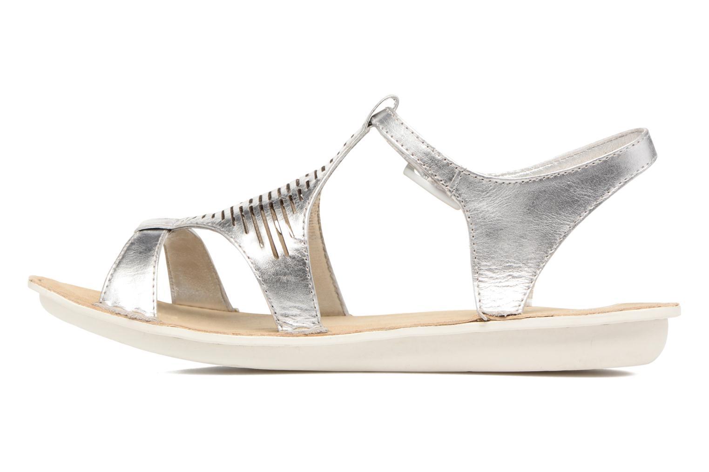 Sandales et nu-pieds TBS Zaharia Argent vue face