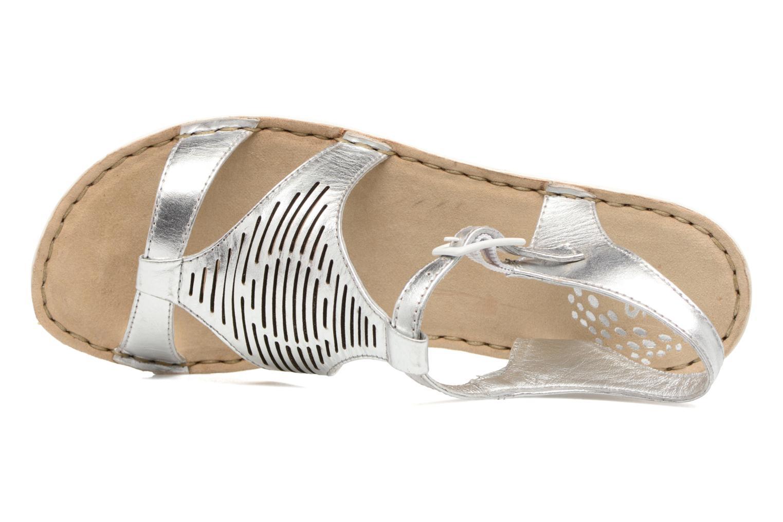 Sandales et nu-pieds TBS Zaharia Argent vue gauche