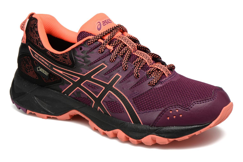 Chaussures de sport Asics Gel-Sonoma 3 G-Tx W Violet vue détail/paire
