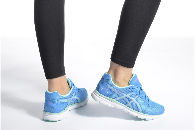 Chaussures de sport Asics Gel-Impression 9 W Bleu vue bas / vue portée sac
