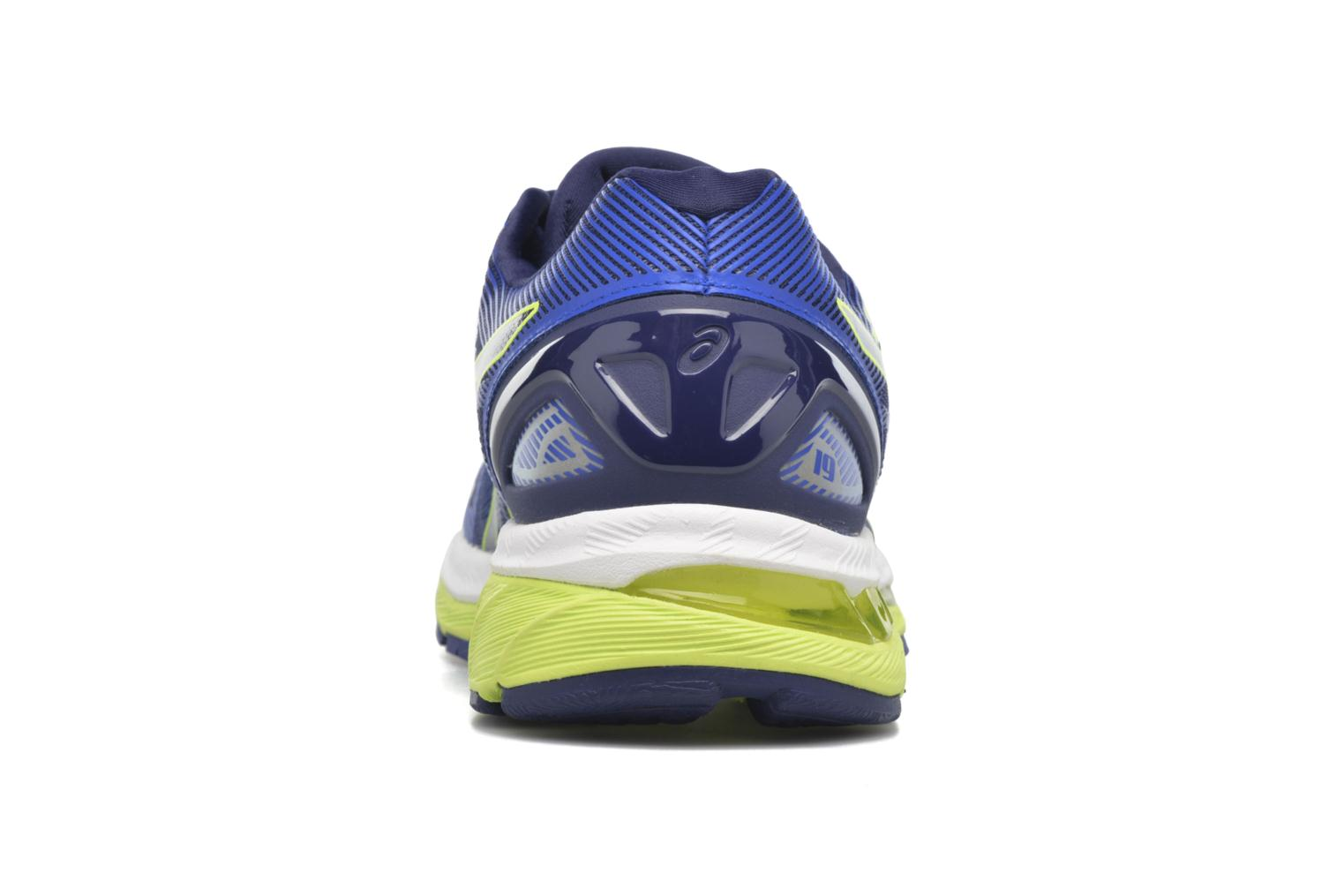 Sport shoes Asics Gel-Nimbus 19 Blue view from the right