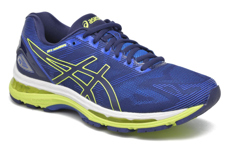 Sport shoes Asics Gel-Nimbus 19 Blue detailed view/ Pair view