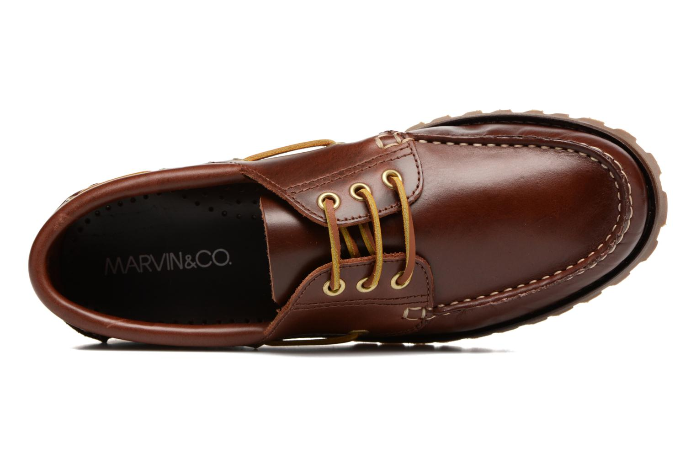 Chaussures à lacets Marvin&Co Smount Marron vue gauche