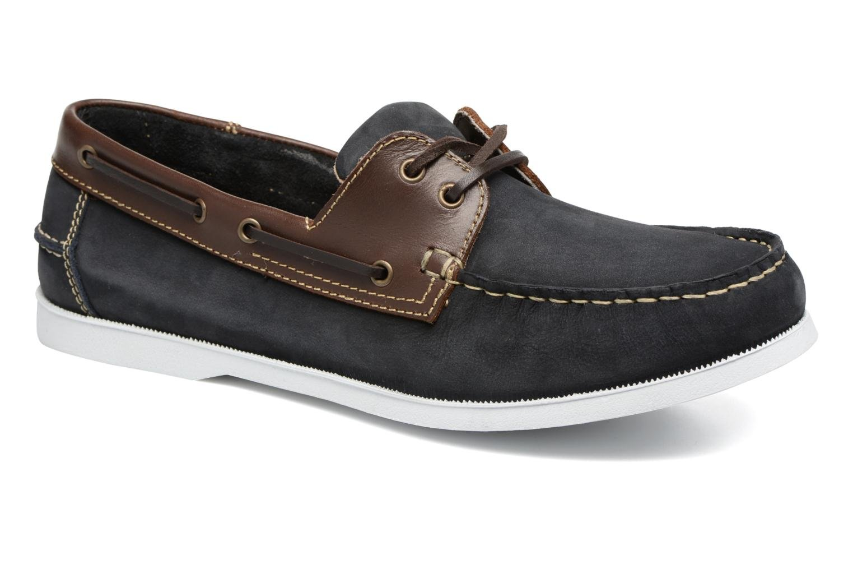 Chaussures à lacets Marvin&Co Satingh Bleu vue détail/paire
