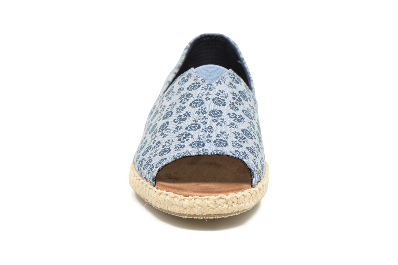 Espadrilles TOMS Alpargata Open Toe Bleu vue portées chaussures