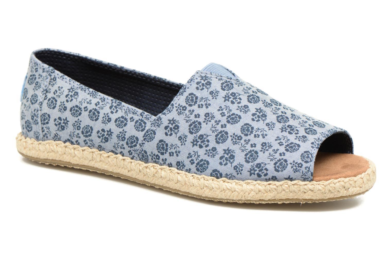 Alpargata Open Toe Blue Ditsy Floral