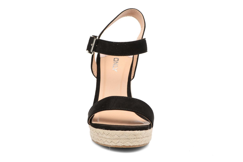 Sandales et nu-pieds ONLY Amelia Plain Heeled Sandal Noir vue portées chaussures