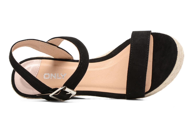 Sandales et nu-pieds ONLY Amelia Plain Heeled Sandal Noir vue gauche