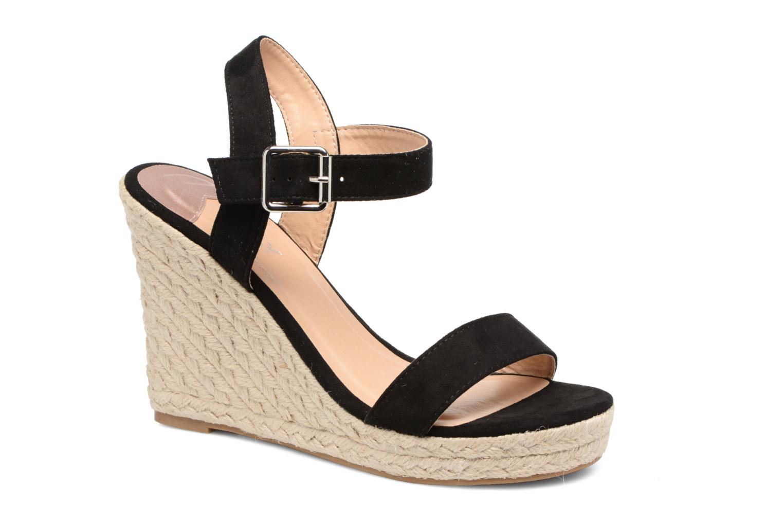 Amelia Plain Heeled Sandal Black