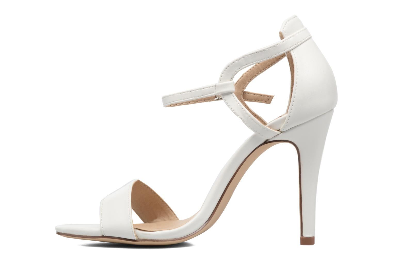Sandales et nu-pieds ONLY Astrid PU Heeled Sandal Blanc vue face