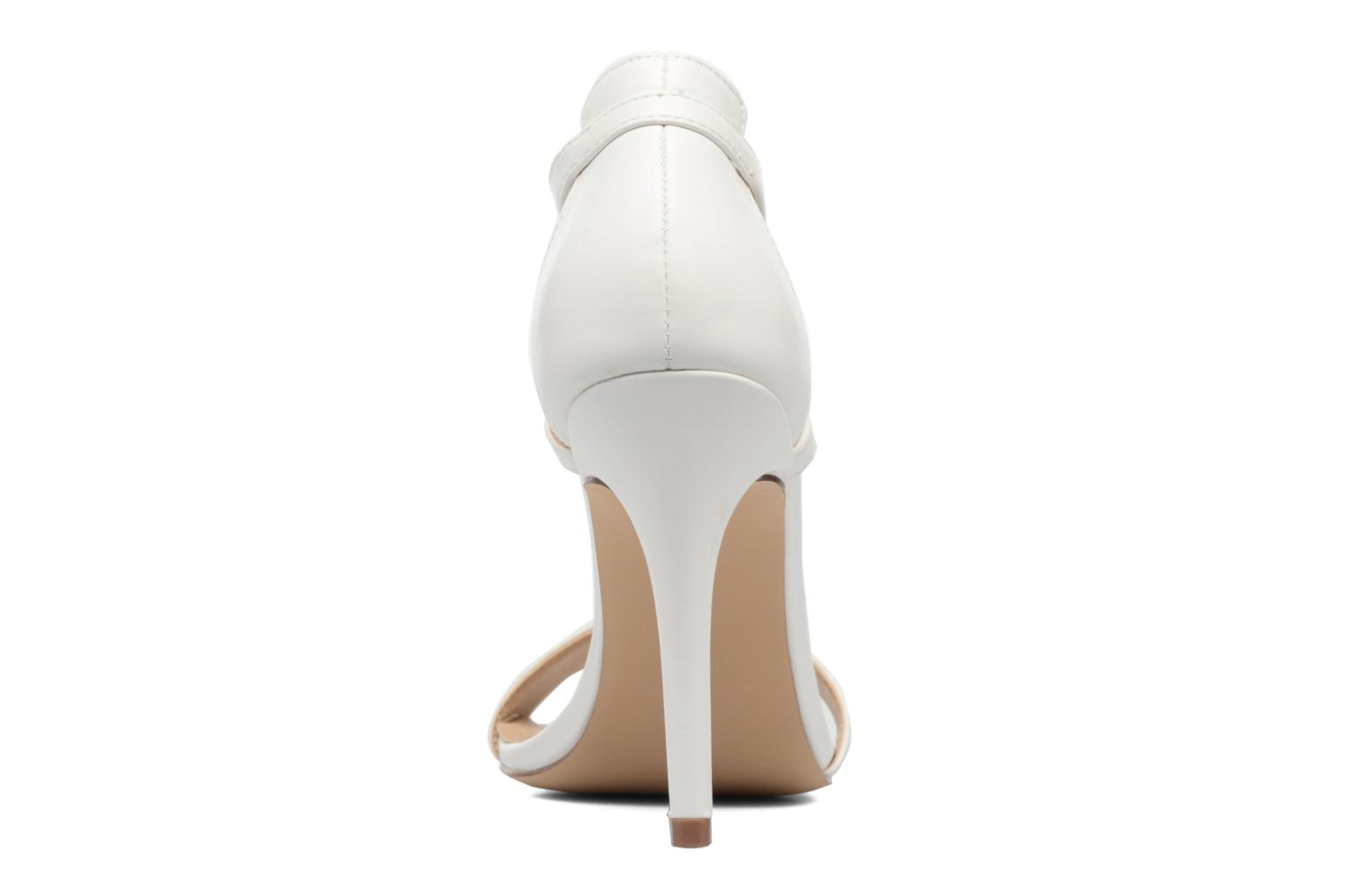 Sandales et nu-pieds ONLY Astrid PU Heeled Sandal Blanc vue droite