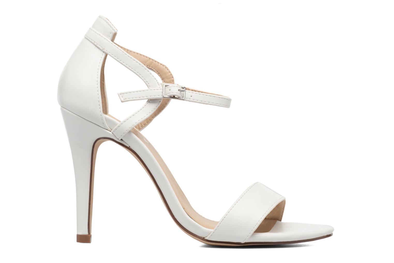Sandales et nu-pieds ONLY Astrid PU Heeled Sandal Blanc vue derrière