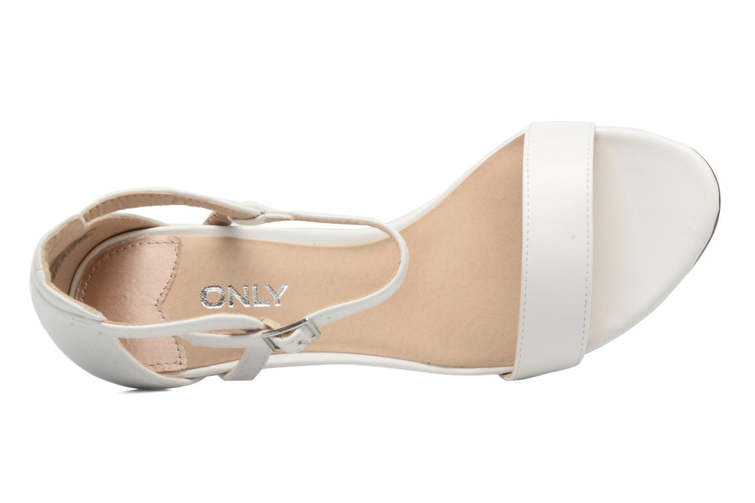 Sandales et nu-pieds ONLY Astrid PU Heeled Sandal Blanc vue gauche