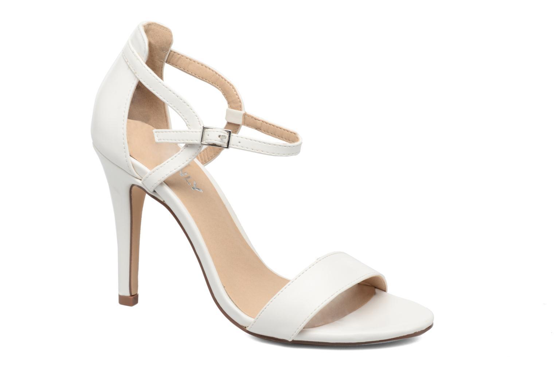 Sandales et nu-pieds ONLY Astrid PU Heeled Sandal Blanc vue détail/paire