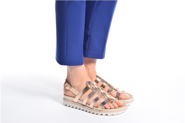 Sandales et nu-pieds Made by SARENZA Pastel Belle #13 Or et bronze vue bas / vue portée sac