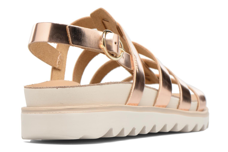 Sandales et nu-pieds Made by SARENZA Pastel Belle #13 Or et bronze vue face