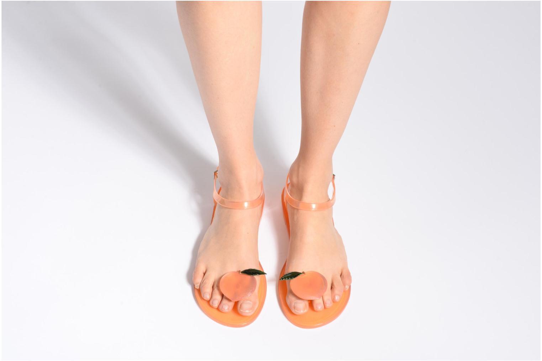 Sandales et nu-pieds Katy Perry The Geli Jaune vue bas / vue portée sac
