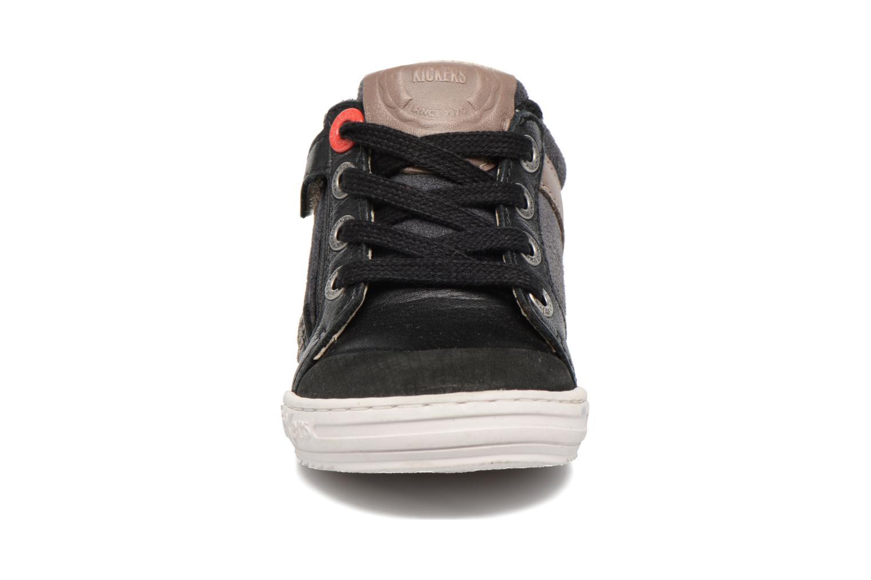 Baskets Kickers Jinjang Noir vue portées chaussures
