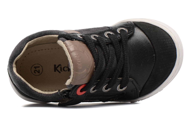 Baskets Kickers Jinjang Noir vue gauche