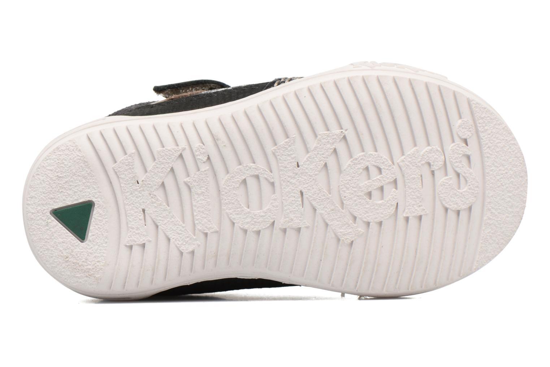 Baskets Kickers Jinjang Noir vue haut