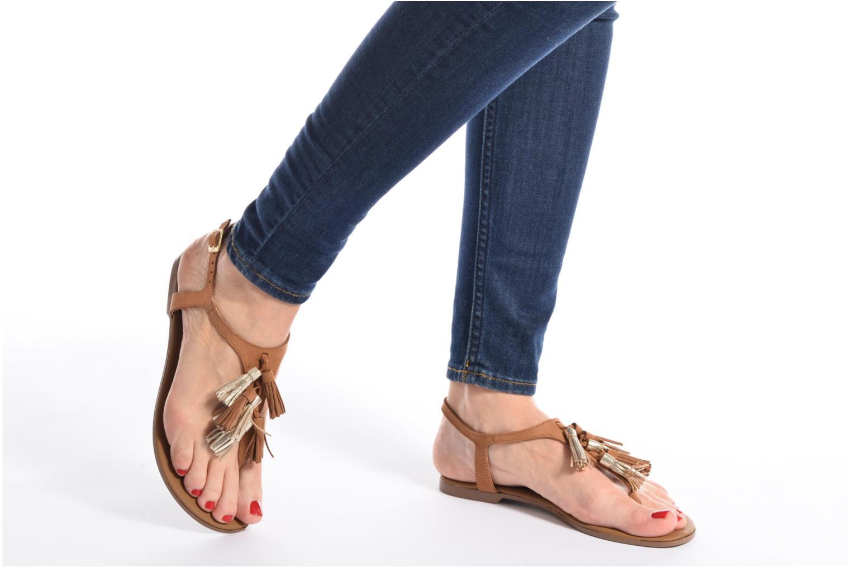 Sandales et nu-pieds Georgia Rose Molon Marron vue bas / vue portée sac