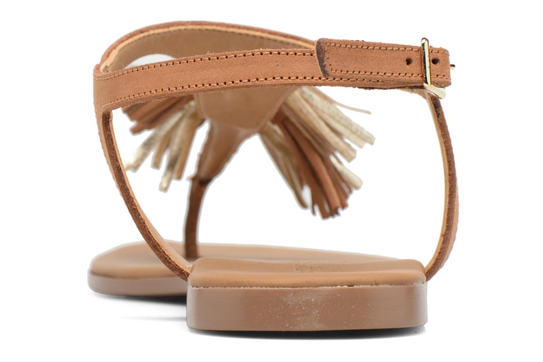 Sandales et nu-pieds Georgia Rose Molon Marron vue droite