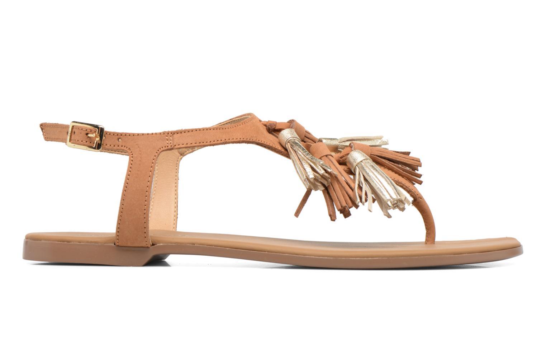 Sandales et nu-pieds Georgia Rose Molon Marron vue derrière