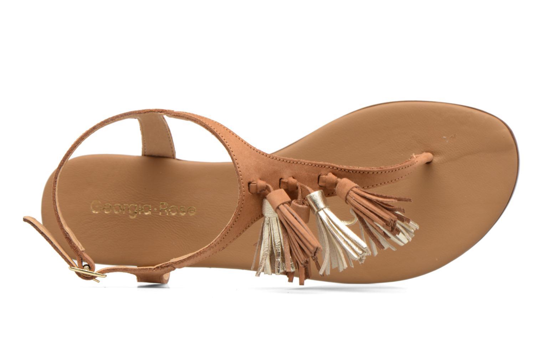 Sandales et nu-pieds Georgia Rose Molon Marron vue gauche