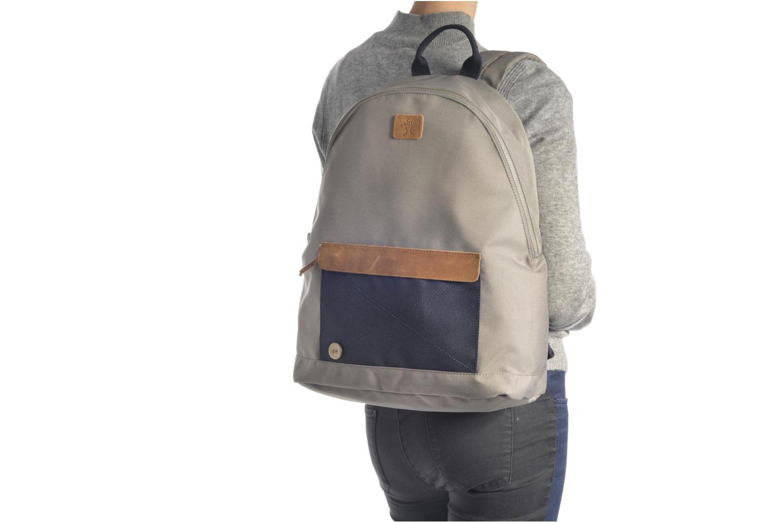 Sacs à dos Faguo Backpack Nylon 2 Bleu vue haut