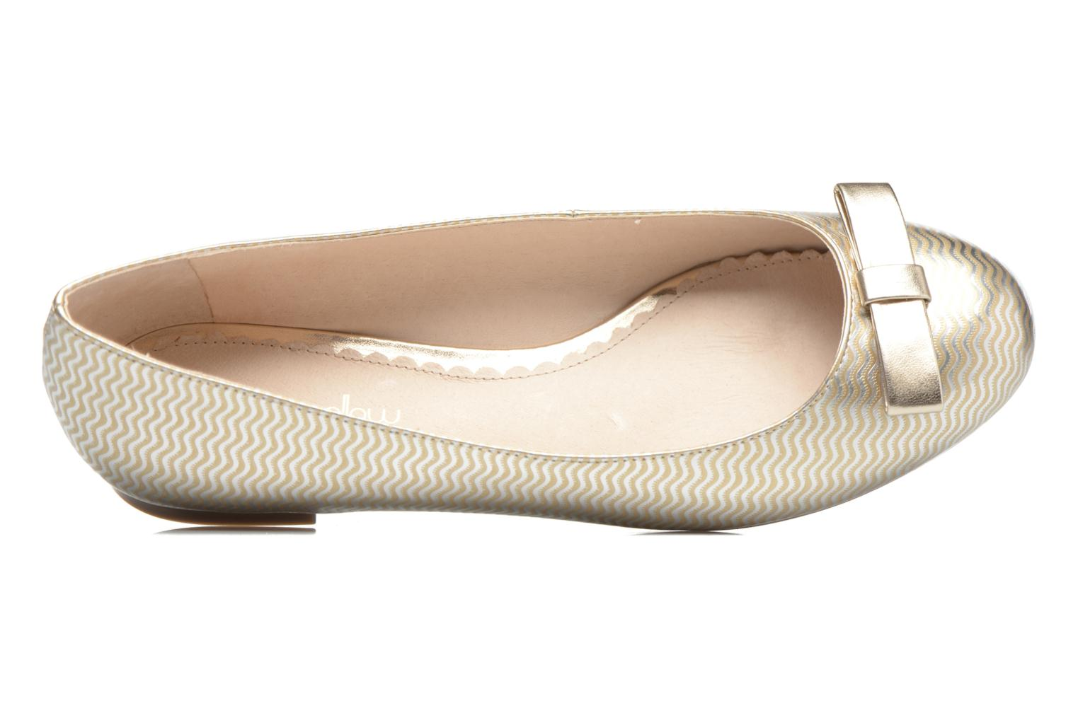 Ballet pumps Mellow Yellow Balowen Bronze and Gold view from the left