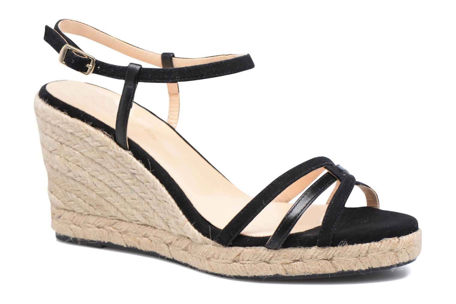 Sandalen Mellow Yellow Berlina Zwart detail