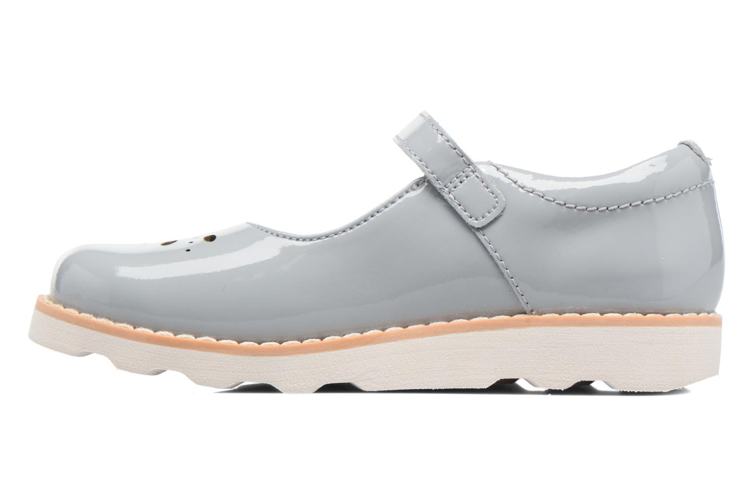 Ballerines Clarks Crown Posy Inf Gris vue face