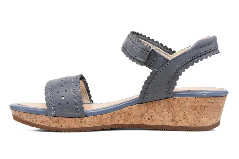 Sandales et nu-pieds Clarks Harpy Myth Jnr Bleu vue face