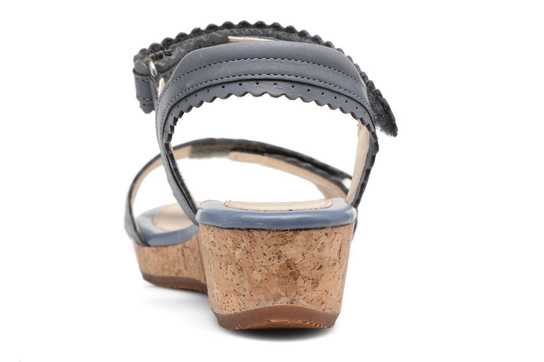 Sandales et nu-pieds Clarks Harpy Myth Jnr Bleu vue droite