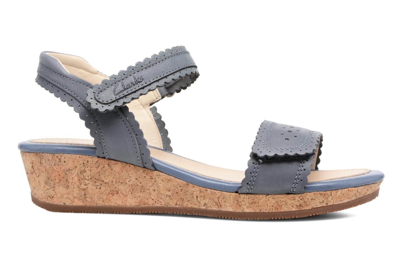 Sandales et nu-pieds Clarks Harpy Myth Jnr Bleu vue derrière