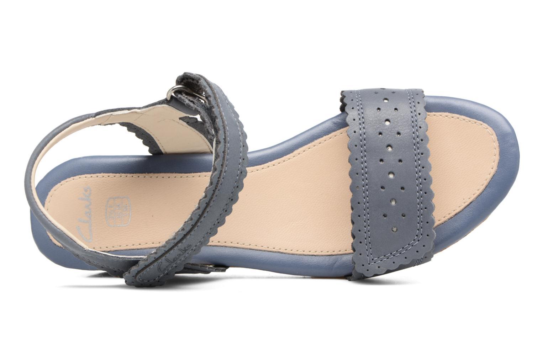 Sandales et nu-pieds Clarks Harpy Myth Jnr Bleu vue gauche
