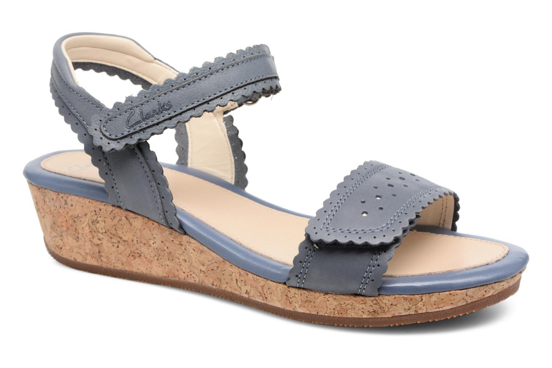 Sandales et nu-pieds Clarks Harpy Myth Jnr Bleu vue détail/paire