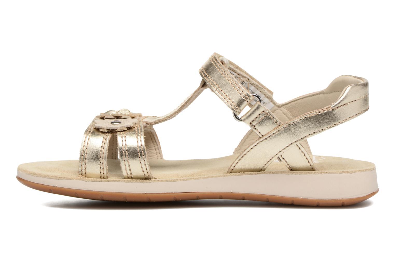 Sandales et nu-pieds Clarks Sea Sally Or et bronze vue face