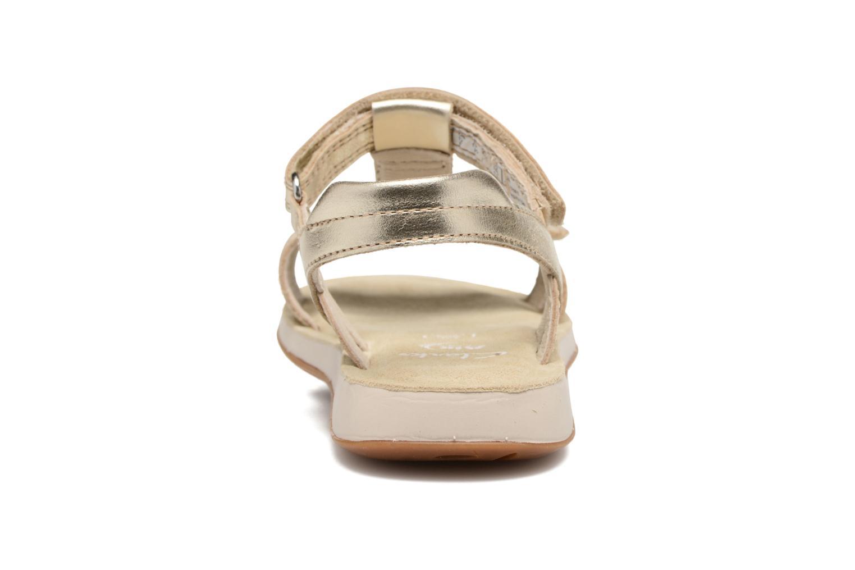 Sandales et nu-pieds Clarks Sea Sally Or et bronze vue droite