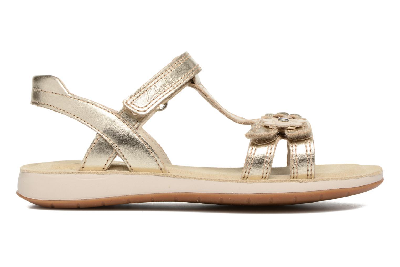 Sandales et nu-pieds Clarks Sea Sally Or et bronze vue derrière