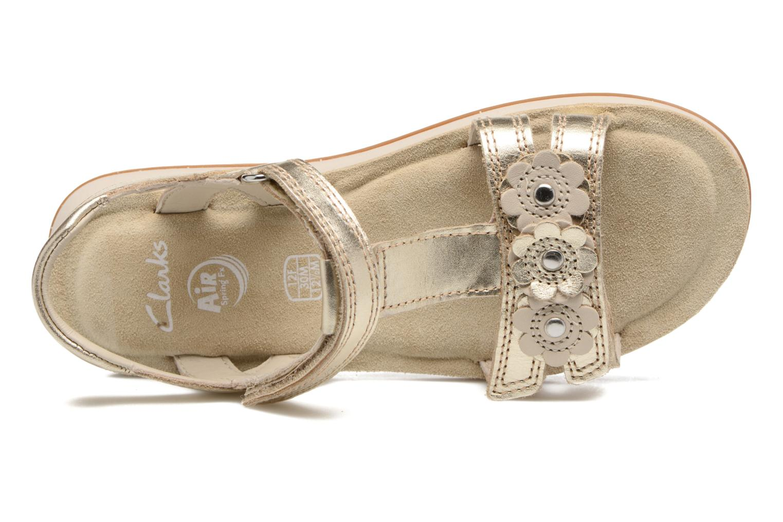 Sandales et nu-pieds Clarks Sea Sally Or et bronze vue gauche