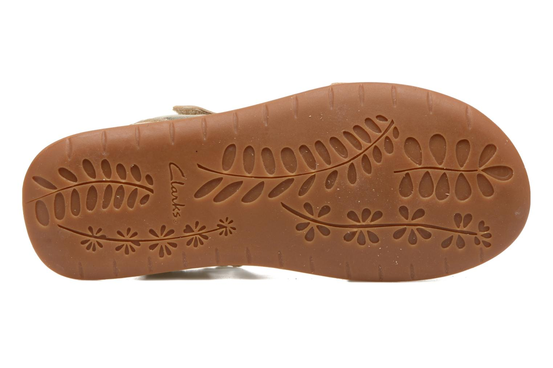 Sandales et nu-pieds Clarks Sea Sally Or et bronze vue haut