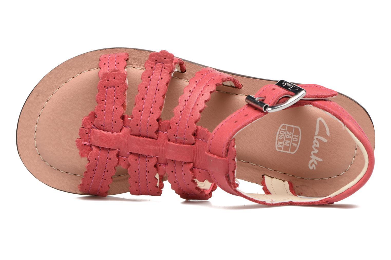 Sandales et nu-pieds Clarks Loni Moon Inf Rose vue gauche