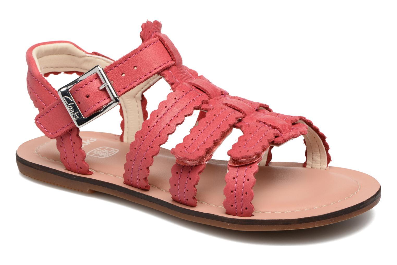 Sandales et nu-pieds Clarks Loni Moon Inf Rose vue détail/paire